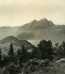 Switzerland Burgenstock Hammetschwand Old Wehrli Stereo Photo 1906