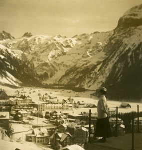 Switzerland Engelberg Titllis Old NPG Stereo Photo 1906