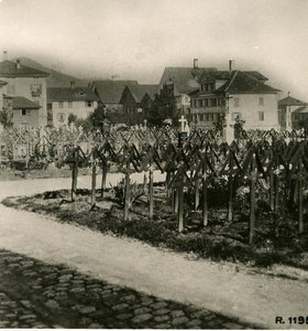 Switzerland Alps Appenzell Cemetery Old Stereo anonymous Studio Photo 1906
