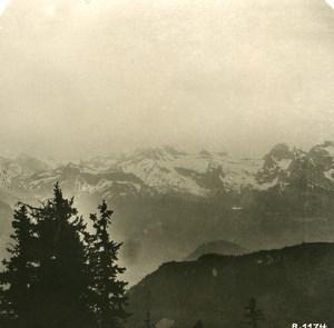 Switzerland Alps Panorama from Stauserhorn Stereo anonymous Studio Photo 1906