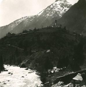 Switzerland Alps Wassen panorama Old Stereo anonymous Studio Photo 1906