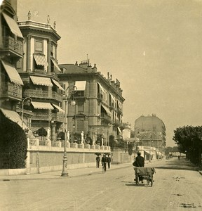 Switzerland Alps Geneva Warf of Paquis Old NPG Stereo Photo 1906