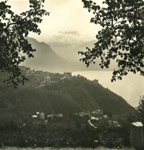 Switzerland Alps Glion Dent du Midi Old Wehrli Stereo Photo 1906