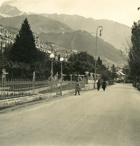 Switzerland Alps Railway Montreux Oberland Bernese Old Wehrli Stereo Photo 1906