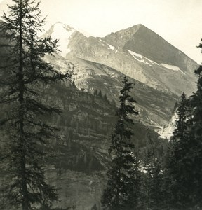Switzerland Alps Gemmi Pass Rinderhorn Old NPG Stereo Photo 1906