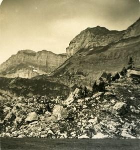 Switzerland Alps Gemmi Pass Old NPG Stereo Photo 1906