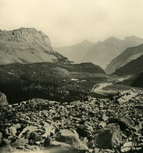 Switzerland Alps Gemmi Pass Old NPG Stereo Photo 1906