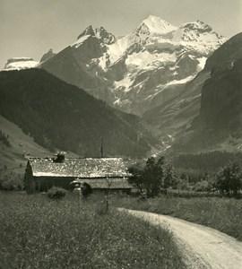 Switzerland Alps Kandersteg Lake Thun Old Wehrli Stereo Photo 1906