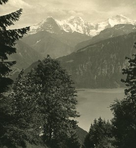 Switzerland Alps Bernese Oberland Lake Thun Old Wehrli Stereo Photo 1906