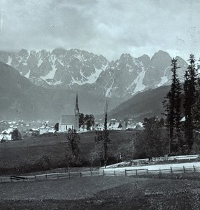 Austria Salzkammergut Donnerkogelu Old Wurthle Stereo Photo 1900's