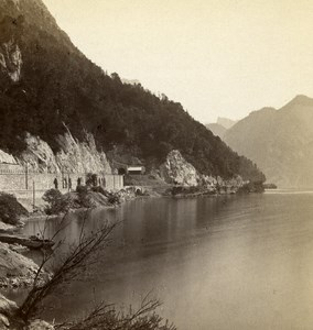 Austria Salzkammergut Sonnenstein Old Wurthle Stereo Photo 1900's