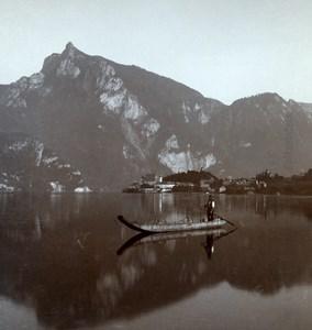 Austria Salzkammergut Spitzelstein Old Wurthle Stereo Photo 1900's