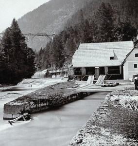 Austria Salzkammergut Gosau Zwang Old Wurthle Stereo Photo 1900's