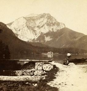 Austria Salzkammergut Langbathsee Old Wurthle Stereo Photo 1900's