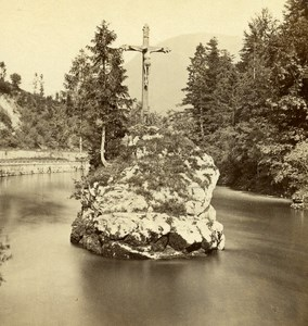Austria Salzkammergut Ischi Old Wurthle Stereo Photo 1900's