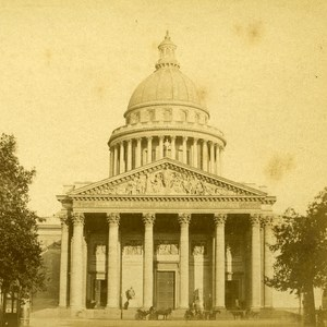 France Paris Pantheon Old Debitte Stereo Photo 1875