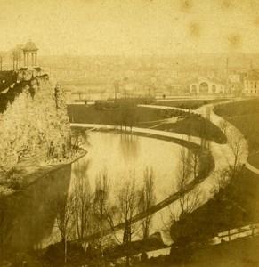 France Paris Buttes Chaumont Old Debitte Stereo Photo 1875