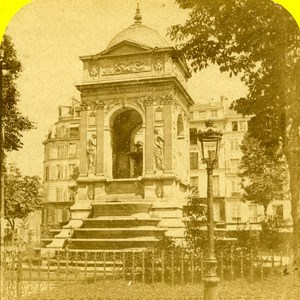 France Paris Fountain of Innocents Old Marinier Stereo Photo 1875