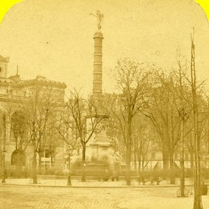 France Paris Place of Chatelet Old Marinier Stereo Photo 1875