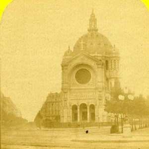 France Paris Church Saint Augustin Old Marinier Stereo Photo 1875