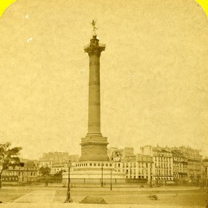 France Paris Place of Bastille Old Marinier Stereo Photo 1875