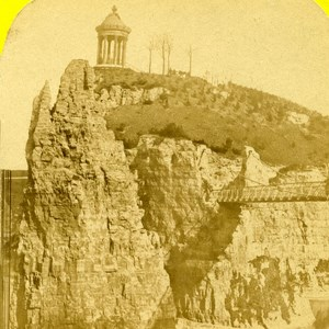 France Paris Buttes Chaumont Old Marinier Stereo Photo 1875
