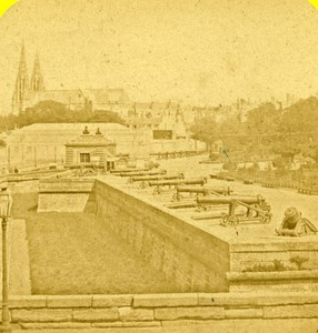 France Paris Esplanade of Invalides Old Marinier Stereo Photo 1875