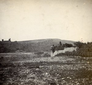 France Gard Castle of Aigueze Old Stereo Stereoview Photo 1900