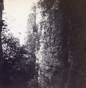 Grand Duchy of Luxembourg Wolfsschlucht Echternach Stereo Stereoview Photo 1900