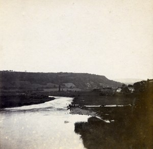 Grand Duchy of Luxembourg Reisdorf Sauer River Old Stereo Stereoview Photo 1900