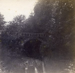 Grand Duchy of Luxembourg Schiessentumpel Waterfall Old Stereo Photo 1900