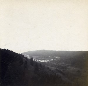Grand Duchy of Luxembourg Reisdorf Panorama Old Stereo Stereoview Photo 1900