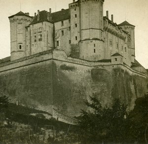 France Saumur the Castle Old Stereo Stereoview Photo 1900