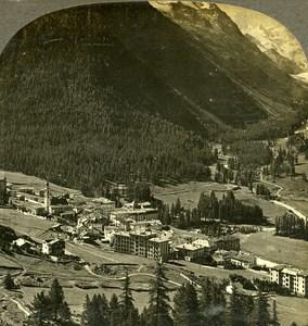 Switzerland Pontresina & Roseg Glaciers Old Stereo Photo Stereoview W Rau 1900