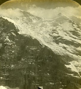 Switzerland Jungfrau Panorama Old Stereo Photo Stereoview ASC 1900