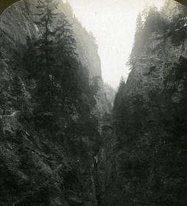 Switzerland Via Mala Old Stereo Photo Stereoview ASC 1900