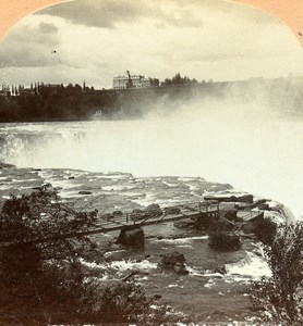 USA Niagara falls Horseshoe Old Stereo Photo Stereoview Graves 1900