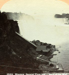 USA Niagara Falls Panorama Old Stereo Photo Stereoview Graves 1900