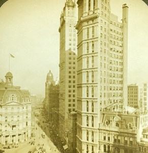 USA New York Buildings Old Stereo Photo Stereoview ASC RY Young 1900