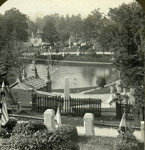 USA New York Greenwood Cemetery Old Stereo Photo Stereoview ASC 1900