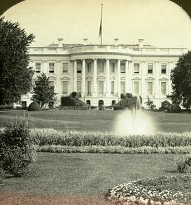 USA Washington White House Old Stereo Photo Stereoview ASC 1900