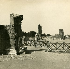 Italy Roma Palatine Palace of Augustus Old SIP Stereo Stereoview Photo 1900
