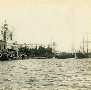 Italy Venezia Santa Maria della Salute Old SIP Stereo Photo 1900