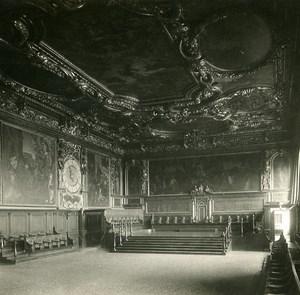 Italy Venezia Doge's Palace Senate floor Old SIP Stereo Stereoview Photo 1900