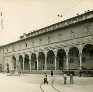Italie Firenze Florence Spedale degli Innocenti Ancienne Stereo SIP Photo 1900