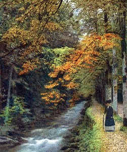 Germany Wurttemberg Wildbad Old Autochrome Paper from Hans Hildenbrand 1910