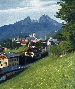 Germany Berchtesgaden Alps Old Autochrome on Paper from Hans Hildenbrand 1910
