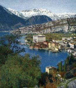 Lake Garda Torbole Autumn Autochrome on Paper from Hans Hildenbrand 1910