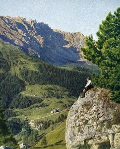 Italy Karer Pass Dolomites Autochrome on Paper from Hans Hildenbrand 1910