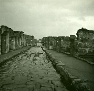 Italy Pompeii Pompeii Street of Vettii Old Possemiers Stereo Photo 1910